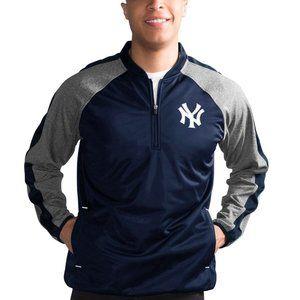 NY Yankees Navy/Heathered Gray Half Zip Sz 4XL NWT